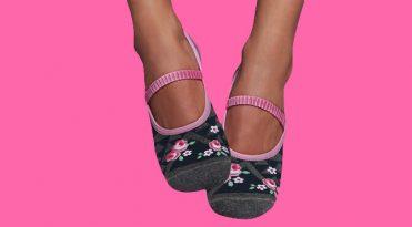 Yoga/Pilates Grip Socks - Romantic