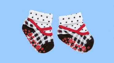 Babies' Grip Socks with Rubber Sole
