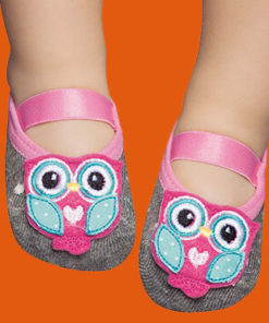 Babies' Rubber Sole Anti-slip Socks - Owl