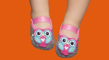 Babies' Rubber Sole Anti-slip Socks - Owl