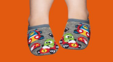 Grip Socks with Rubber Sole for Babies