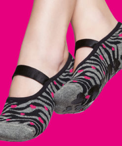 Women`s Grip Socks Animal Print