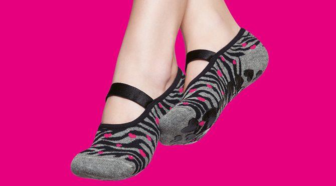 Women`s Grip Socks Animal Print