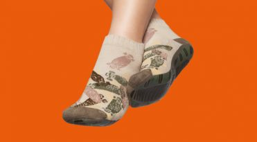 Men's Anti-slip Socks - Beige Print