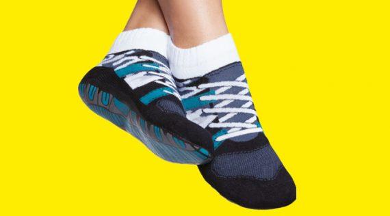 Men's Non-slip Socks - Sneakers Print