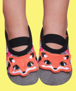 Rubber Sole Grip Socks - Fox Detail