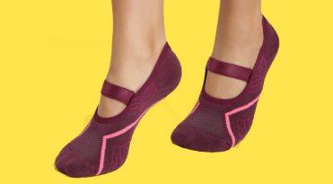 Women's Pilates Socks - Burgundy