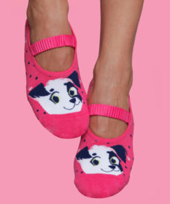Women's Pilates Socks - Puppy Print