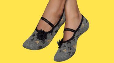 Original Women's Grip Socks with Floral Detail