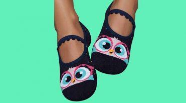 Rubber Sole Pilates Socks