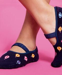 Socks with Grip Sole - Balloon Print