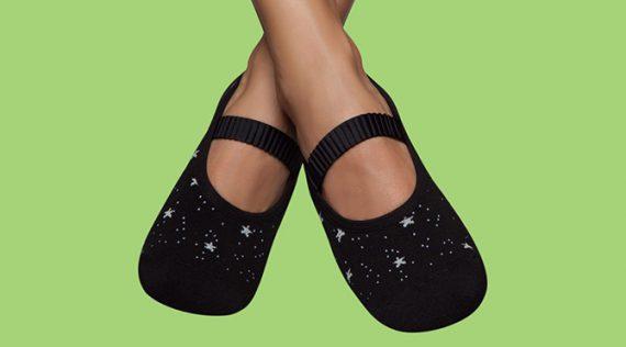 Women's Grip Socks - Shiny Stars