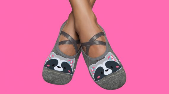 Women's Grip Socks with Rubber Sole