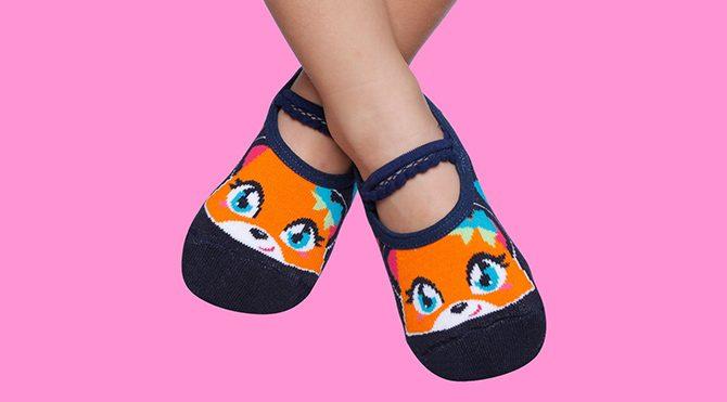 Women's Pilates Socks - Grip Sole