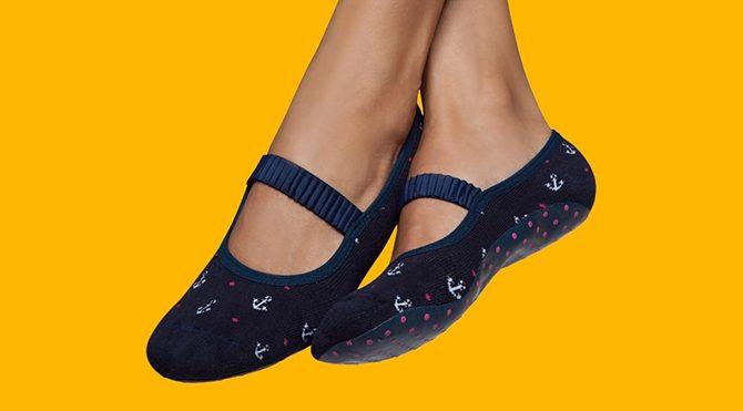 Women's Rubber Sole Socks